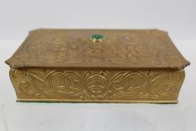 Art Nouveau Gold-Gilded Dresser Box