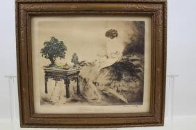 1932 Signed Icart Hand-Colored Etching