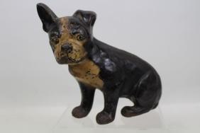 Boston Terrier Puppy Doorstop - Flat Back