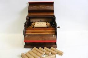 Mechanical Celestina Orguinette w/ 10 Rolls