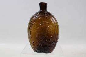 Amber Blown Glass Eagle Flask