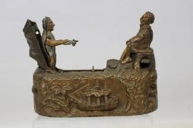 J. & E. Stevens Columbus World's Fair Mechanical Bank