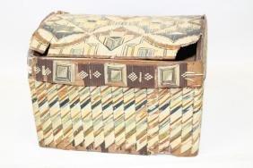 Micmac Quill Box - Late 19th C Dome top Box