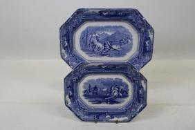 Platters - Shaw's Peruvian Horse Hunt - Blue & White