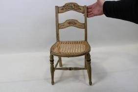 Victorian Child's Side Chair - Stenciled Decorated