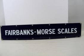 Fairbanks- Morse Scales Porcelain Advertising Sign