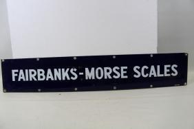 Fairbanks- Morse Scales Porcelain Advertising Sign