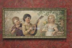 Victorian Children Chromolithograph Print
