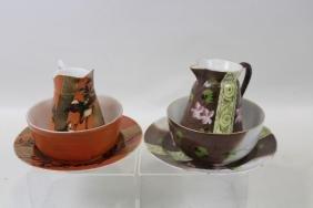 Hand-painted 19th C Mush Breakfast Sets