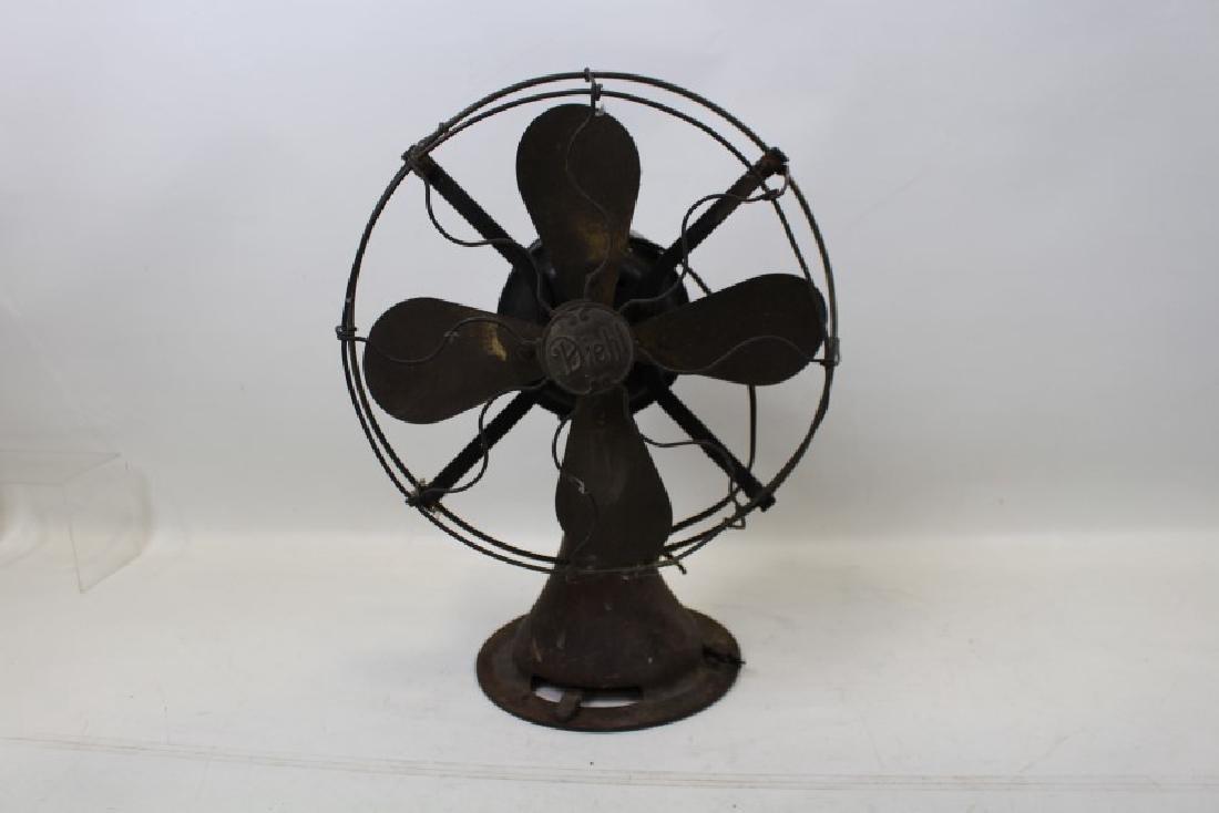 Early Diehl Electric Fan w/ Brass Blade & Cage