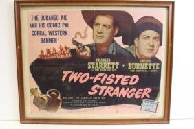 Durango Kid Movie Poster 1946, Numbered