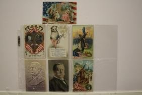 7 Postcards Taft, Billy Possum, Lincoln & Washington