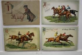 5 EAS Postcards - Pigs & Race Horses Series