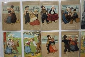 100 Postcards - Dutch Holland Children Series