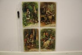4 Postcards - 1910 Fairy Tales Series 8666
