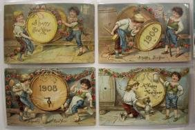 50 Postcards Children New Year Series Sets