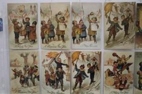 59 Postcards Children New Year Series