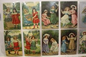 64 Postcards Girl Children in Pairs Series