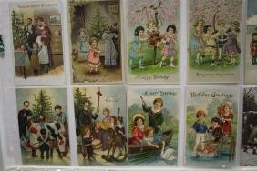50  Postcards Mostly Christmas Family Scenes Series