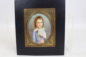 Young Royal Boy Portrait Miniature on Ivory