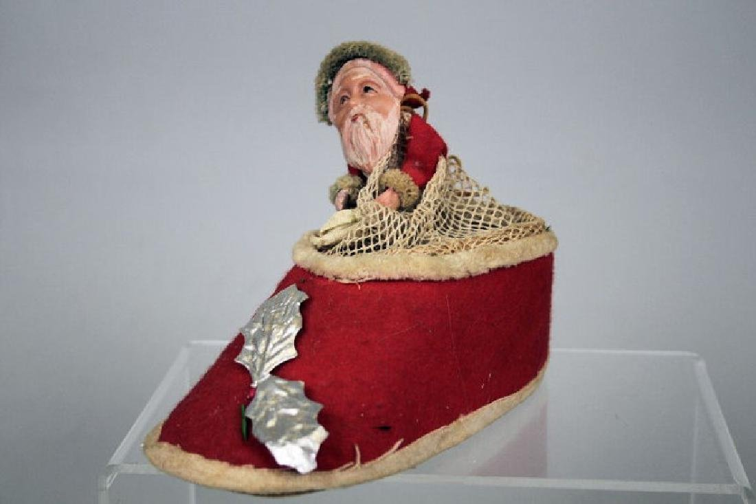 1930s Santa in Shoe / Slipper Candy Container
