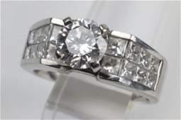 1.50 ct Radiant Diamond 18K WG Lady's Ring