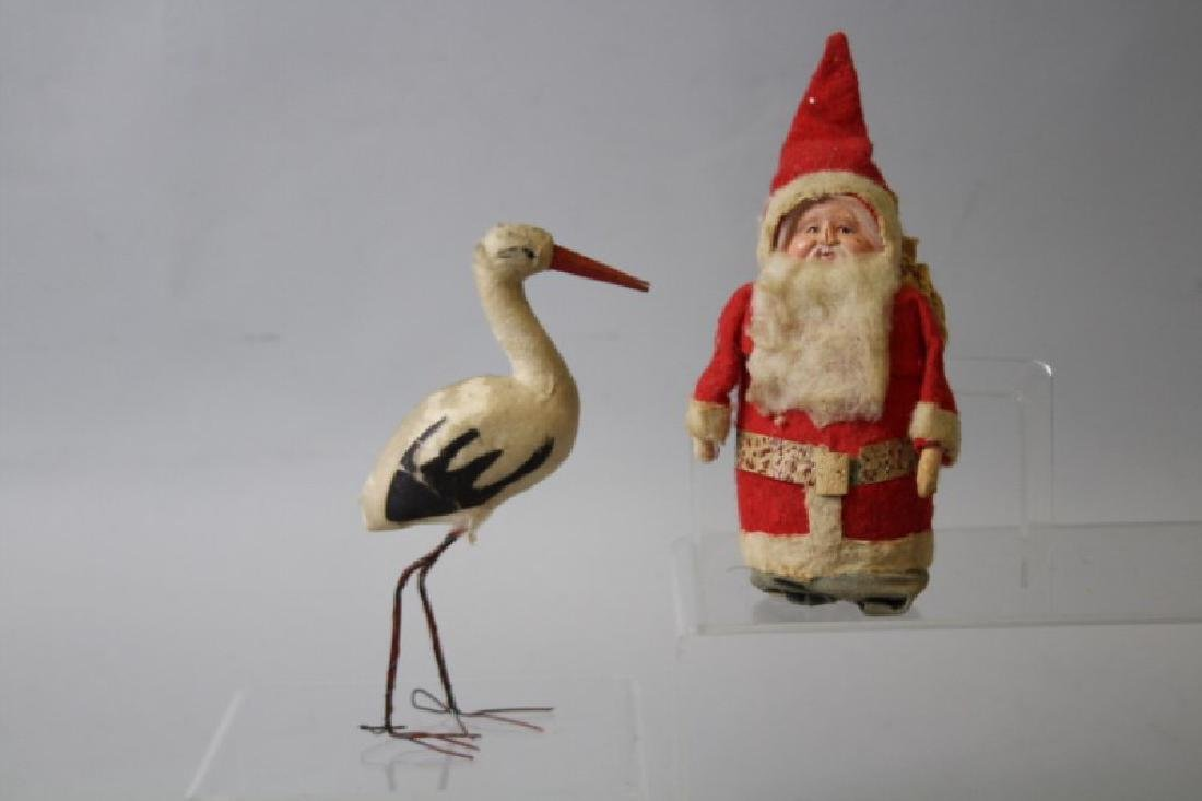 Christmas Candy Containers - Santa & Stork