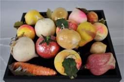 Antique Christmas Ornaments - Spun Cotton Fruits