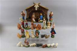 Christmas Nativity Scene  Mostly Chalkware Figures