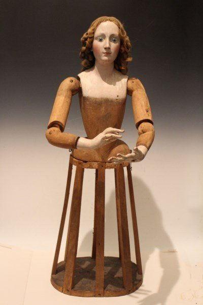 Extremely Rare 18-19th C Lady Santos Cage Doll