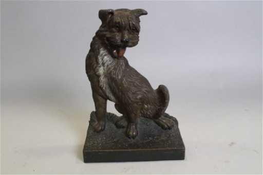 Bradley Hubbard Cast Iron Cairn Terrier Dog Door Stop