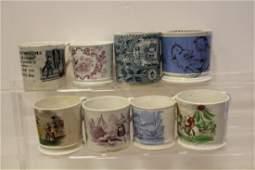 19th C Victorian Childrens Staffordshire Mugs  Lot of