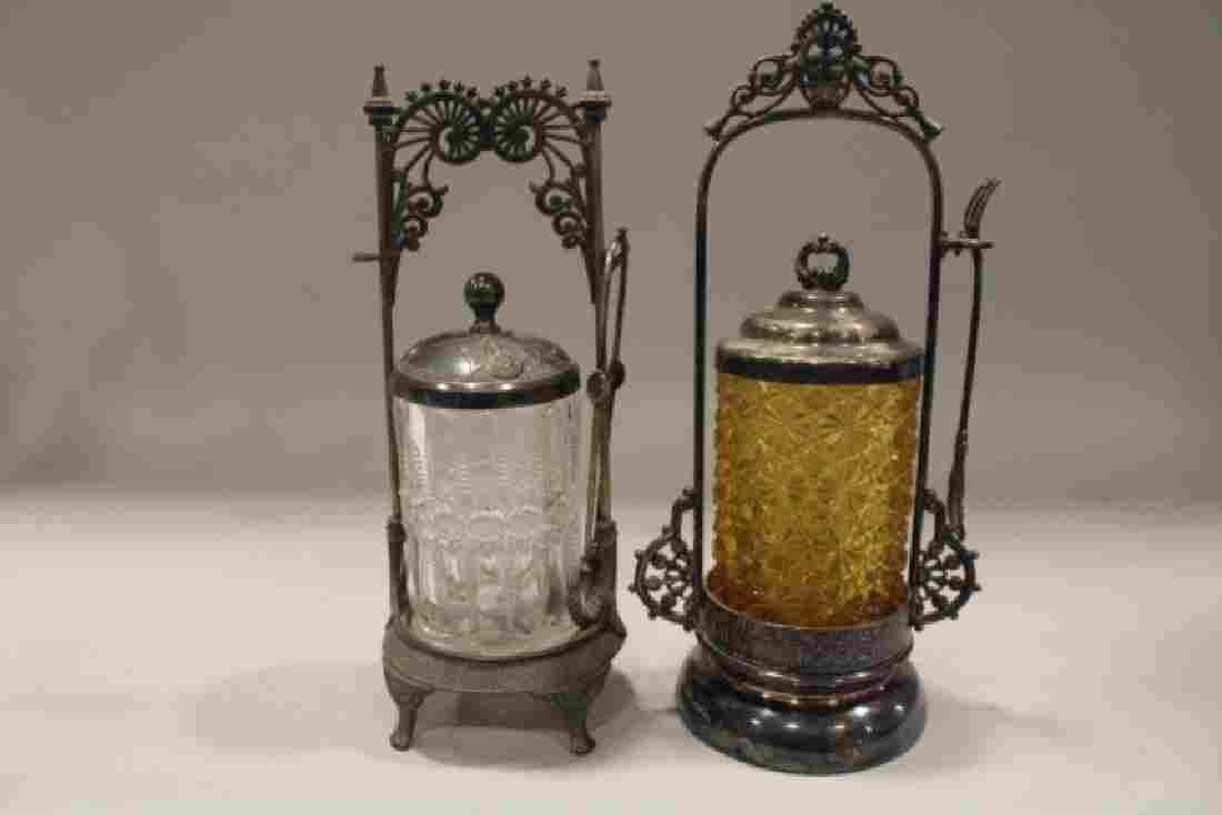 Pair Victorian Pickle Castors