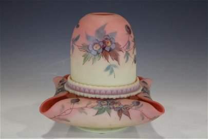 1884-86 Signed Webb Burmese Fairy Lamp Hand-Painted