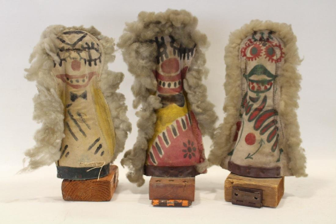 Early 20th C Group of 3 Folk Art Carnival Knock Down