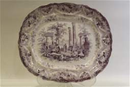 19th C T. Mayer Mogul Scenery Staffordshire Platter