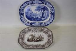 Lot of 2 Staffordshire Platters  Wedgwood  Hall