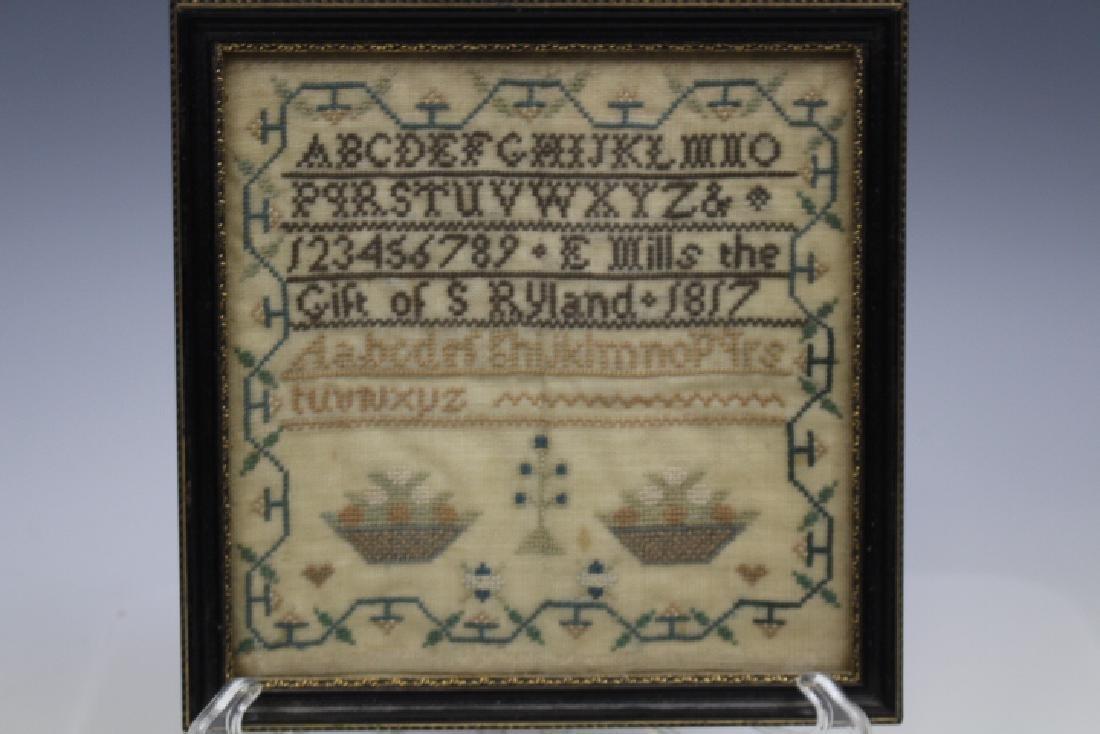 Miniature School Girl Sample Dated 1817 Excellent