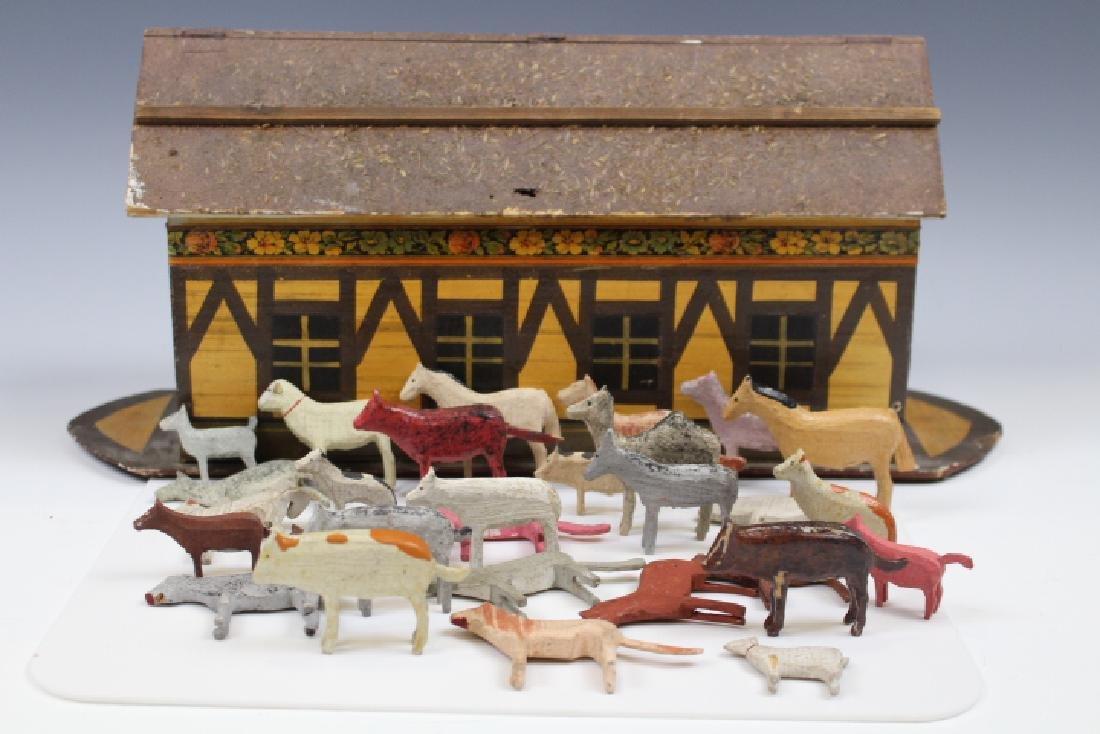 19th C German Noah's Ark w/ Animals