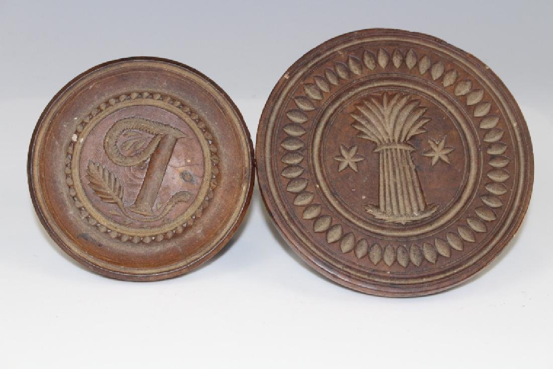 19th C Carved Butter Stamps