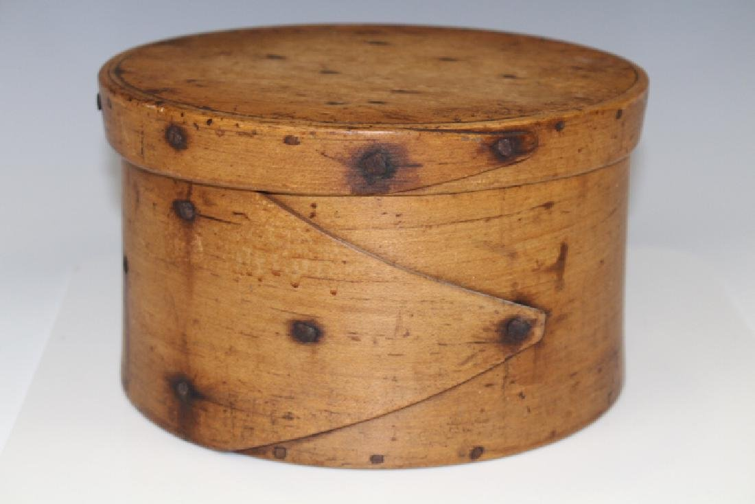 18th C New England Pantry Box Rose Head Nails