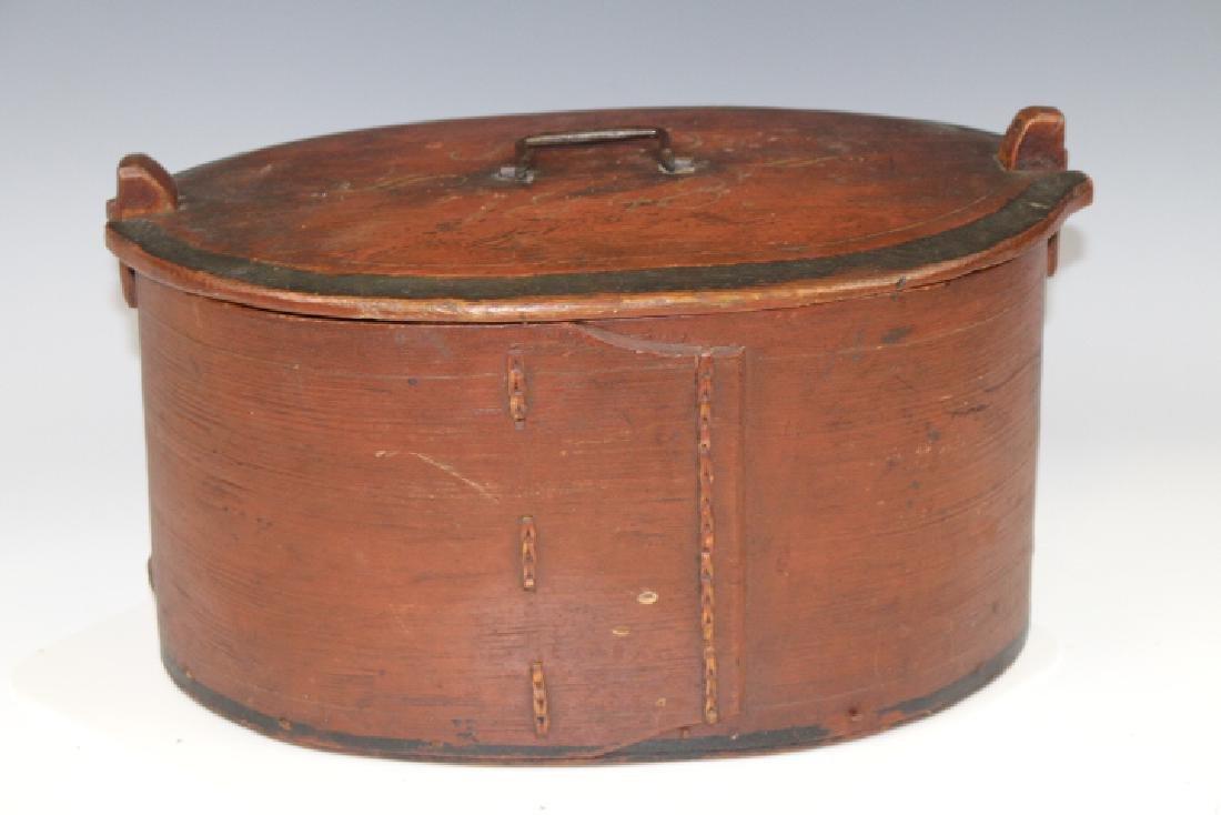 Dated 1848 Original Paint Lidded Storage Box