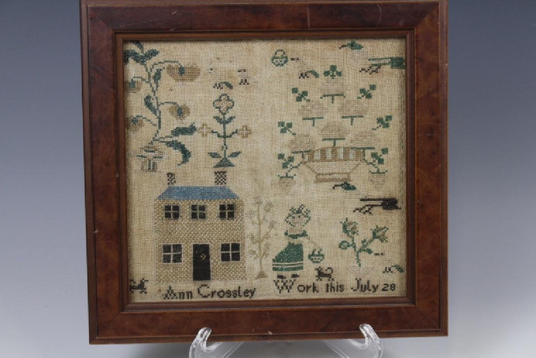 Early 19th C School Girl ABC Sampler