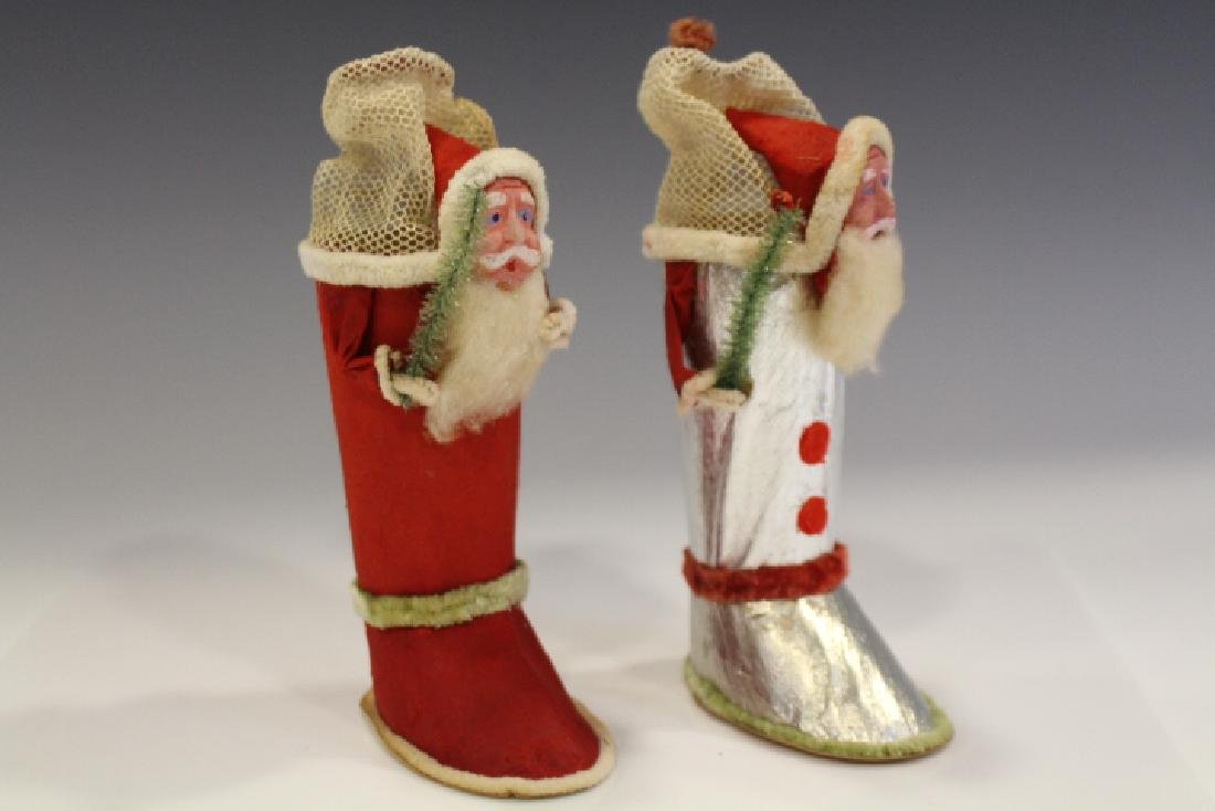 Pair Candy Container Boots w/ Santas