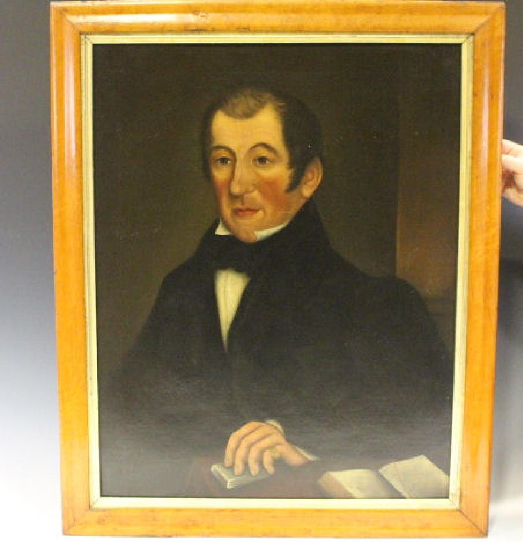 Early 19th C Oil on Canvas Portrait of Gentleman