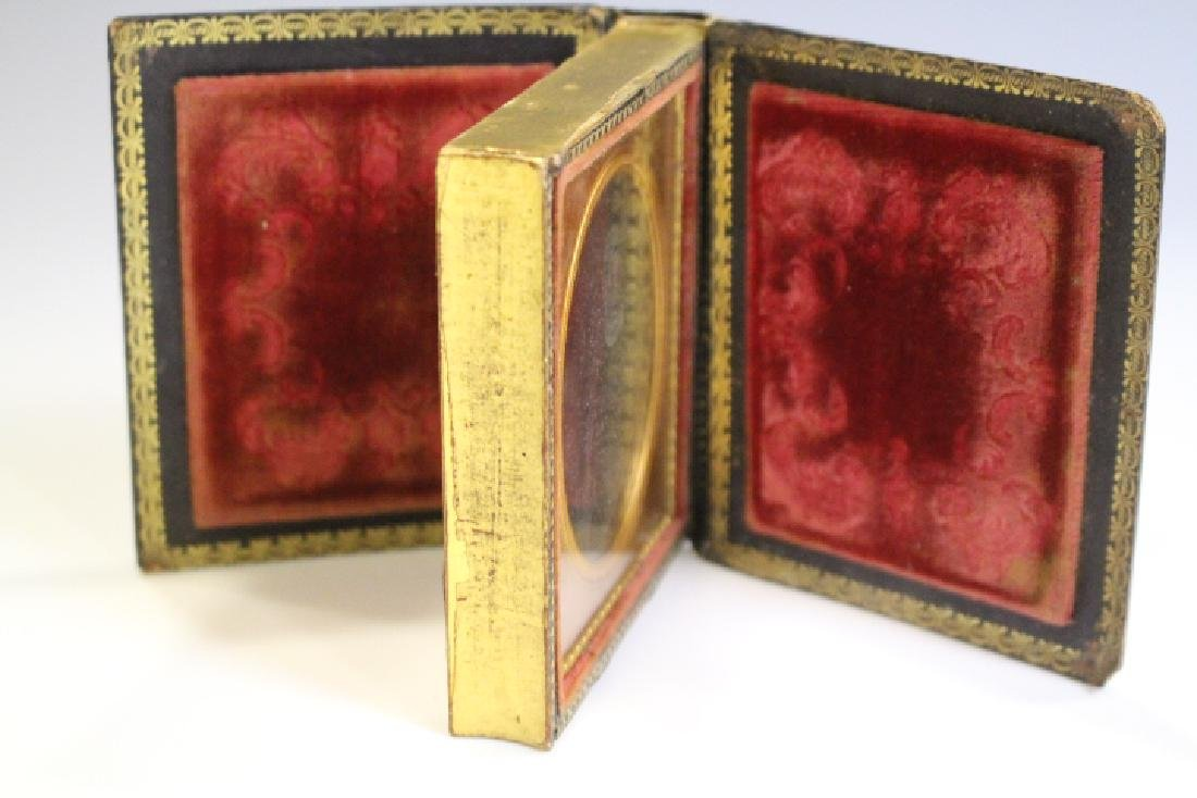 Papier Mache Double Book Form Ambrotype Images