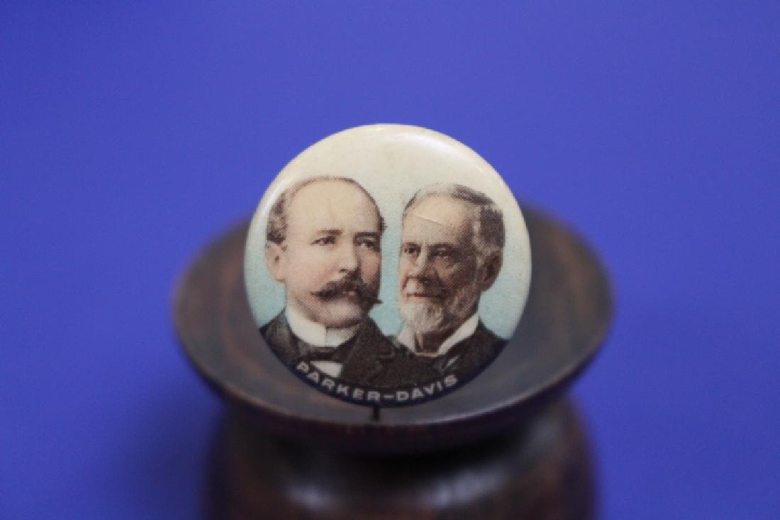 1904 Parker Davis Presidential Campaign Pinback