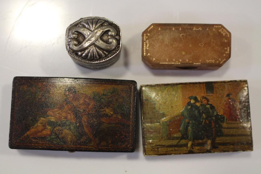 Lot of 4 Early Snuff Boxes