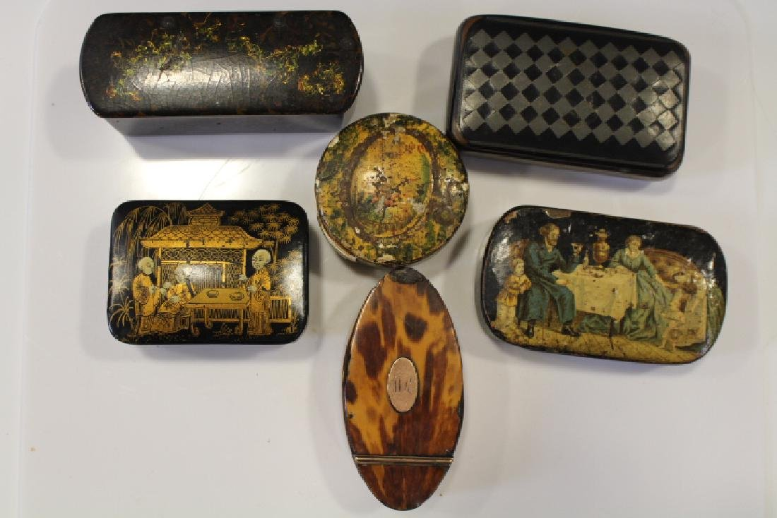 Lot of 6 18-19th C Snuff Boxes