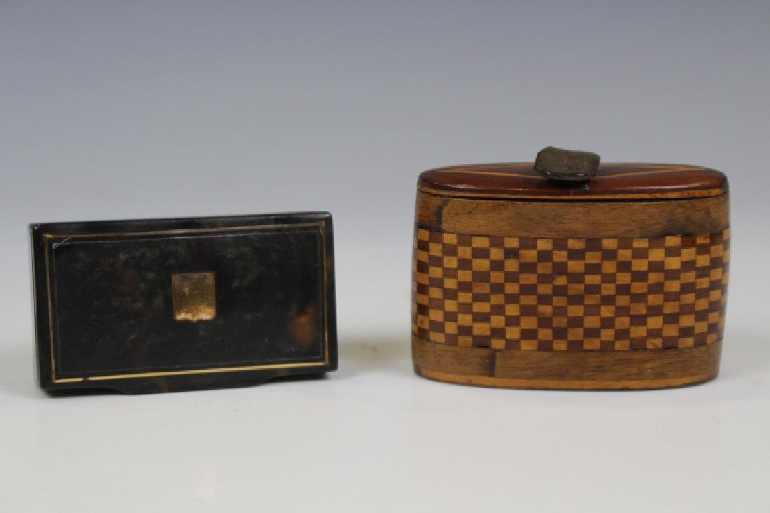 Lot of 2 19th C Snuff Boxes